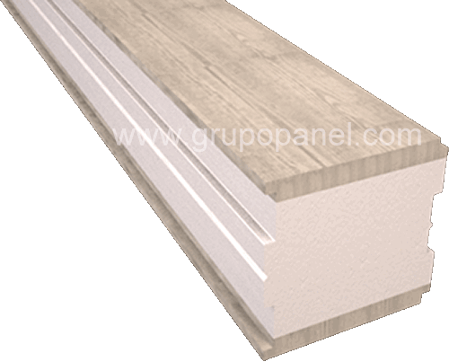 Panel sandwich madera grandes luces gran canto