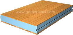 Panel sandwich madera tablero interior pino liso